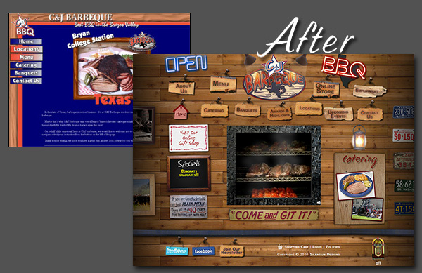C&J Barbeque | Before and After